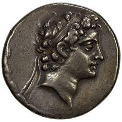SELEUKID KINGDOM: Antiochos V Eupator, 164-162 BC, AR tetradrachm (16.69g), Ake-Ptolemais mint. VF