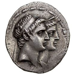 SELEUKID KINGDOM: Demetrius I & Laodice IV, 162-150 BC, AR tetradrachm (16.24g), Seleukeia on the Ti