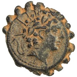 SELEUKID KINGDOM: Antiochos VI Dionysos, 145-142 BC, AE serrated 22mm (7.86g), Antioch on the Oronte