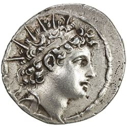 SELEUKID KINGDOM: Antiochos VI Dionysos, 145-142 BC, AR tetradrachm (16.72g), Apameia. VF