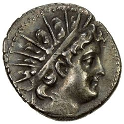 SELEUKID KINGDOM: Antiochos VI Dionysos, 144-142 BC, AR drachm (4.25g), Antioch on the Orontes mint.