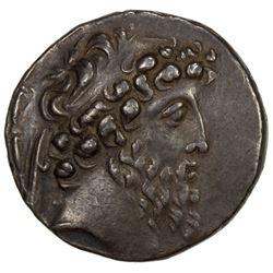 SELEUKID KINGDOM: Demetrios II Nikator, 2nd Reign, 130-125 BC, AR tetradrachm (16.33g), Damascus. VF