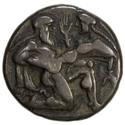 THRACIAN CITIES: Anonymous, circa 510-490 BC, AR stater (8.31g), Thasos. VF-EF