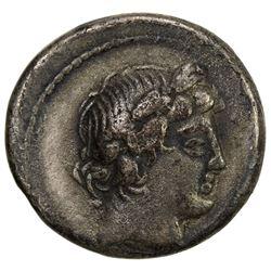 ROMAN REPUBLIC: L. Censorinus, 82 BC, AR denarius (2.31g), Rome mint. F
