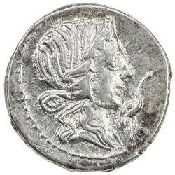 ROMAN REPUBLIC: Q. Caecilius Metellus Pius, 81 BC, AR denarius (3.88g) (northern Italy). EF