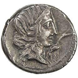 ROMAN REPUBLIC: Q. Caecilius Metellus Pius, 81 BC, AR denarius (4.01g) (northern Italy). EF