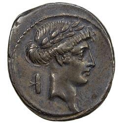 ROMAN REPUBLIC: Q. Pomponius Musa, 66 BC, AR denarius (3.71g). EF
