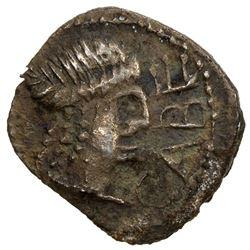 ROMAN REPUBLIC: Lepidus, 44-42 BC, AR obol (0.43g), Gaul. VF