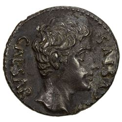 ROMAN EMPIRE: Augustus, 27 BC-14 AD, AR denarius (3.72g), Colonia Patricia. VF-EF