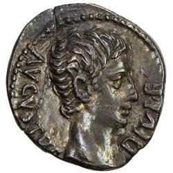 ROMAN EMPIRE: Augustus, 27 BC-14 AD, AR denarius (3.65g), Lugdunum (Lyon) mint. VF