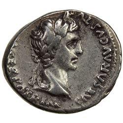 ROMAN EMPIRE: Augustus, 27 BC-14 AD, AR denarius (3.74g), Lugdunum (ca. 2 BC - AD 4). VF