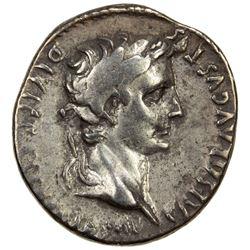 ROMAN EMPIRE: Augustus, 27 BC-14 AD, AR denarius (3.76g), Lugdunum (ca. 2 BC - AD 4). VF