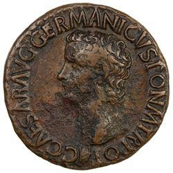 ROMAN EMPIRE: Caligula, 37-41 AD, AE as (10.73g), Rome mint. VF