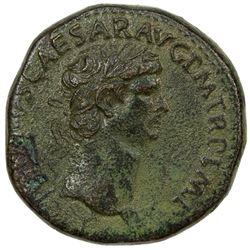 ROMAN EMPIRE: Claudius, 41-54 AD, AE sestertius (27.47g). F