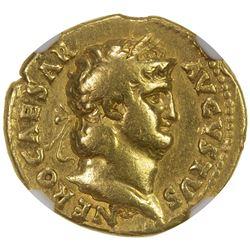 ROMAN EMPIRE: Nero, 54-68 AD, AV aureus (7.17g). NGC F