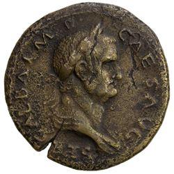 ROMAN EMPIRE: Galba, 68-69 AD, AE sestertius (23.42g), Rome mint. F