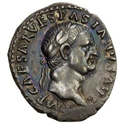 ROMAN EMPIRE: Vespasian, 69-79 AD, AR denarius (3.45g). EF