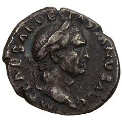 ROMAN EMPIRE: Vespasian, 69-79 AD, AR denarius (2.91g). F