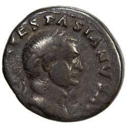 ROMAN EMPIRE: Vespasian, 69-79 AD, AR denarius (2.92g). F