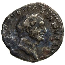 ROMAN EMPIRE: Vespasian, 69-79 AD, AR denarius (3.11g). VG