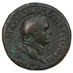 ROMAN EMPIRE: Vespasian, 69-79 AD, AE sestertius (26.77g). F