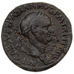 ROMAN EMPIRE: Vespasian, 69-79 AD, AE sestertius (25.85g). F