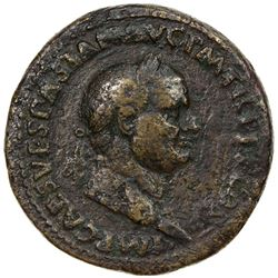ROMAN EMPIRE: Vespasian, 69-79 AD, AE sestertius (25.92g). VF
