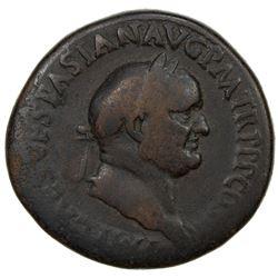 ROMAN EMPIRE: Vespasian, 69-79 AD, AE sestertius (24.15g). VG
