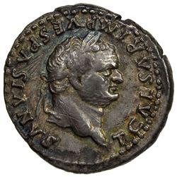 ROMAN EMPIRE: Titus, as Caesar, 69-79, AR denarius (3.25g), Rome mint. EF