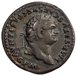 ROMAN EMPIRE: Titus, 79-81 AD, AR denarius (3.31g). VF