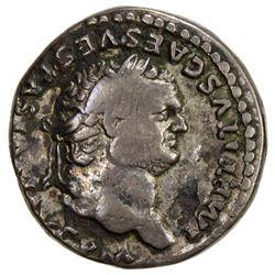 ROMAN EMPIRE: Titus, 79-81 AD, AR denarius (3.19g). F