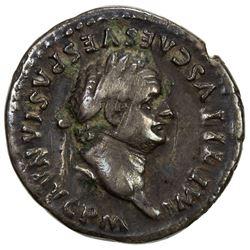 ROMAN EMPIRE: Titus, 79-81 AD, AR denarius (3.21g). F-VF
