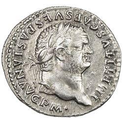 ROMAN EMPIRE: Titus, 79-81 AD, AR denarius (3.34g) (Rome). EF