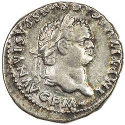 ROMAN EMPIRE: Titus, 79-81 AD, AR denarius (3.44g) (Rome). VF-EF