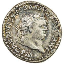 ROMAN EMPIRE: Titus, 79-81 AD, AR denarius (3.52g) (Rome). VF-EF
