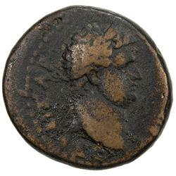 ROMAN EMPIRE: Titus, 79-81 AD, AE 25 (11.98g), Caesarea Maritima, Samaria-Palestine. F