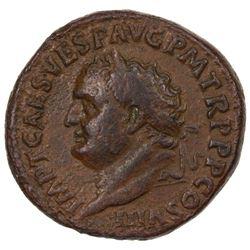 ROMAN EMPIRE: Titus, 79-81 AD, AE sestertius (27.92g). F