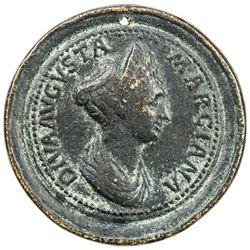 ROMAN EMPIRE: Marciana, sister of Trajan, AE medal (28.53g). VF