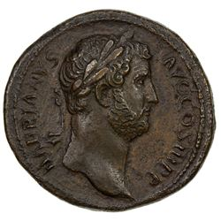 ROMAN EMPIRE: Hadrian, 117-138 AD, AE sestertius (28.66g). VF