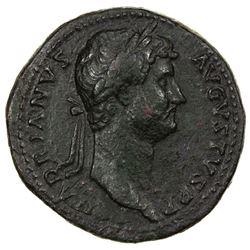 ROMAN EMPIRE: Hadrian, 117-138 AD, AE sestertius (25.12g). F-VF