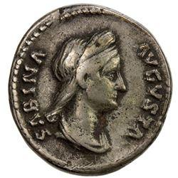 ROMAN EMPIRE: Sabina, wife of Hadrian, 128-136, AR denarius (3.71g). VF