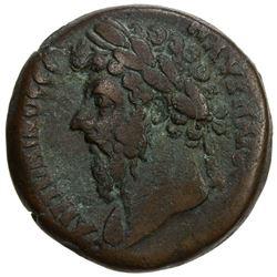 ROMAN EMPIRE: Marcus Aurelius, 161-180 AD, AE drachm (18.18g), Alexandria, Egypt, year 6 (=165/6 AD)