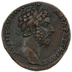ROMAN EMPIRE: Marcus Aurelius, 161-180 AD, AE sestertius (25.78g). VF