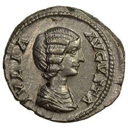 ROMAN EMPIRE: Julia Domna, wife of Septimius Severus, 193-211, AR denarius (3.41g). AU