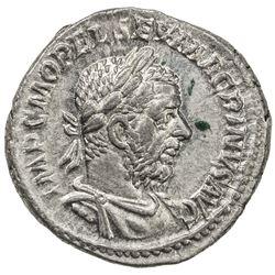 ROMAN EMPIRE: Macrinus, 217-218 AD, AR denarius (3.57g), Rome mint. AU