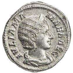 ROMAN EMPIRE: Julia Mamaea, mother of Severus Alexander, AR denarius (2.74g), Rome (228). EF
