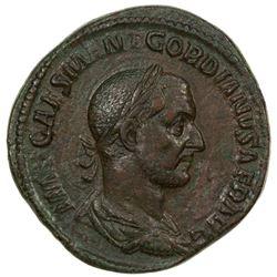 ROMAN EMPIRE: Gordian I, 238 AD, AE sestertius (21.25g). VF-EF