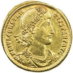 ROMAN EMPIRE: Constantine II, 337-340 AD, AV solidus (4.49g). AU
