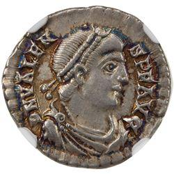 ROMAN EMPIRE: Valens, 364-378 AD, AR siliqua (2.02g), Trier. NGC EF