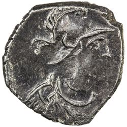 BYZANTINE EMPIRE: Justinian I, 527-565, AR 1/2 siliqua (20 nummi) (0.95g), Constantinople, ND. VF